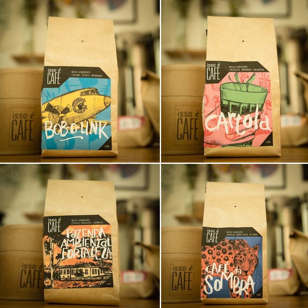 FAF's Isso é Café brand of coffee.