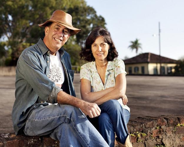 Marcos Croce and Silvia Barretto at Fazenda Amiental Fortaleza. Photo courtesy of Felipe Croce.